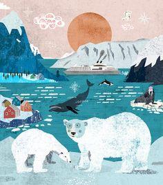 Martin Haake Animal Habitats, Beautiful Drawings, Arctic, Digital Illustration, Illustrations Posters, Art Drawings, Landscaping, Poster Prints, Animation