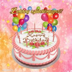 Boldog születésnapot! - Megaport Media Share Pictures, Animated Gifs, Birthday Cake, Awesome, Desserts, Food, Tailgate Desserts, Birthday Cakes, Deserts