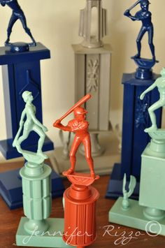 Old trophies get a new life with spray paint