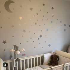 Moon And Stars Wall Decals, Moon Wall Stickers, Star Wall stickers, Nursery Wall Decals, Nursery S. Wall Stickers Stars, Nursery Wall Stickers, Childrens Wall Stickers, Kids Wall Decals, Vinyl Decals, Kids Stickers, Star Themed Nursery, Star Nursery, Baby Nursery Decor