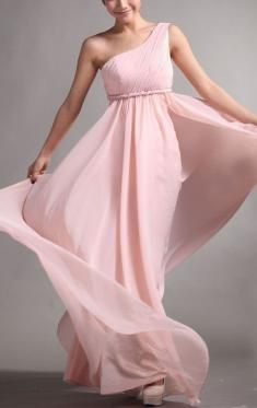 Buy adorable Long Bridesmaid Dresses at KissyDress online. Pick up this  unique Cheap One Shoulder Chiffon Pink Bridesmaid Dress at b496cfb46028