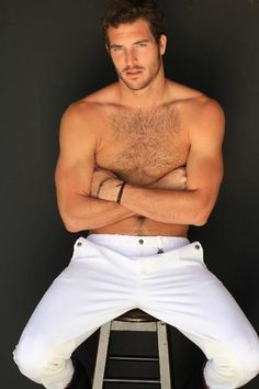 """Justice Joslin """"Handsome & Sexy"""" - Hairy Male Model - Football Player - Hot Man"""