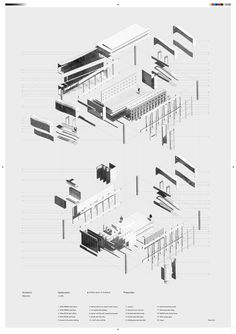 35 Ideas For Drawing Architecture Isometric Architecture People, Architecture Board, Architecture Drawings, Architecture Design, Axonometric Drawing, Isometric Drawing, Explosion Drawing, Felix Candela, Building Society