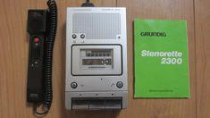 Sténorette 2300 Grundig - Numérisation et Transfert audio de cassette Steno-cassette 30 vers MP3 et CD Audio - www.remix-numerisation.fr - Restauration audio Cd Audio, Cassette, Deck, Audio Crossover, Turntable, Restoration, Decor, Decks