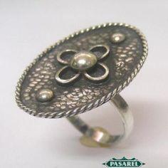 Pasarel - Vintage Sterling Silver Ring, Israel 1950's $85.00
