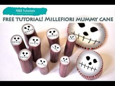 PolyPediaOnline TV - How to Create Polymer Clay Halloween Mummy Face Millefiori Cane - YouTube