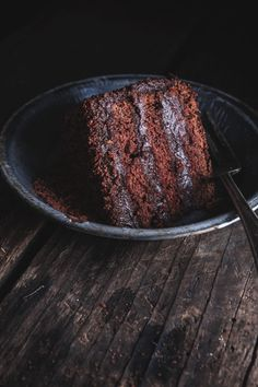 "Yeerrrrr! In ur face! This chocolate cake has so much presence, sitting there starring at me. Its just saying ""Im here!"" #Yum."