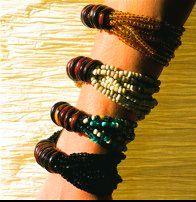 Seven Suns Wooden Ring Bracelet