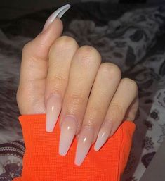 "If you're unfamiliar with nail trends and you hear the words ""coffin nails,"" what comes to mind? It's not nails with coffins drawn on them. It's long nails with a square tip, and the look has. Perfect Nails, Gorgeous Nails, Pretty Nails, Best Acrylic Nails, Acrylic Nail Designs, Plain Acrylic Nails, Long Nails, Aycrlic Nails, Long Nail Art"