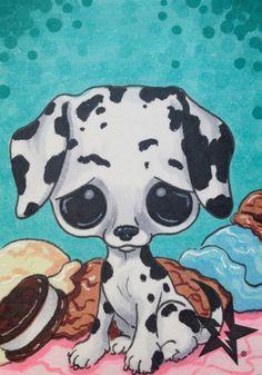 Sugar Fueled Dalmatian Dog Pity Puppy Ice Cream by Sugarfueledart