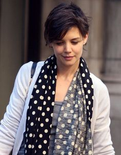 Katie Holmes Pixie - Short Hairstyles Lookbook - StyleBistro