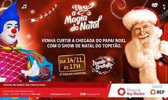 Shopping Bay Market traz o palhaço 'Topetão' na chegada do Papai Noel   Jornalwebdigital