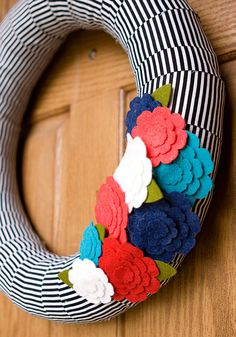 Fabric-Wrapped Pool Noodle Wreath