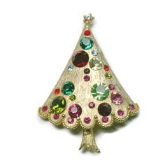 Book Piece Christmas Tree Pin