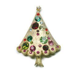 Book Piece Christmas Tree Pin