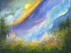 Somewhere, Landscape Oil Painting Original Art by Marina Petro, painting by artist Marina Petro