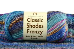 Classic Shades Frenzy....this yarn looks lovely in knitting Amanda fingerless mitts.