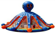 Giant Inflatable Octopus Toy For Sale, Big Blow Up Octopus Moon Bounce Water Slide Game