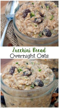 Zucchini Bread Overnight Oats Do you love zucchini bread? Well have these healthy and simple Zucchini Bread Overnight Oats for breakfast and you will be fueled up all morning. Gluten free, dairy free and vegan friendly! Best Overnight Oats Recipe, Overnight Oatmeal, Overnight Breakfast, Protein Overnight Oats, Free Breakfast, Breakfast Recipes, Breakfast Ideas, Clean Breakfast, Nutritious Breakfast