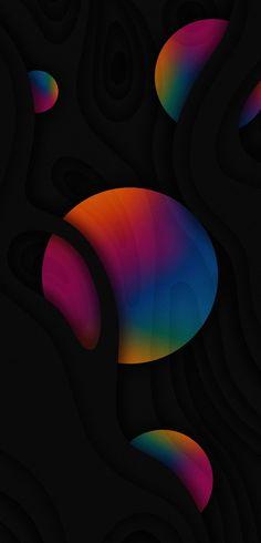 Iphone Background Wallpaper, Apple Wallpaper, Colorful Wallpaper, Circles, Bubbles, Backgrounds, Wallpapers, Celestial, Artwork