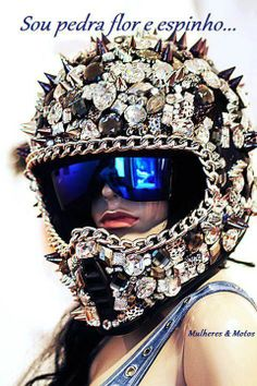 Capacete strass