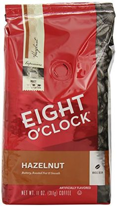 Eight OClock Whole Bean Coffee Hazelnut 11 Ounce Pack of 6 -- Read more at the affiliate link Amazon.com on image.