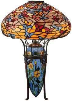 "Meyda 26""H Tiffany Butterflies Table Lamp"
