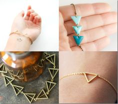 geometric triangle bracelets