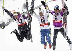 Rested and confident before her world championship cross country ski race in Falun, Sweden, Jessie Diggins held an additional edge Tuesday, a piece of inspiration from 4,100 miles away.