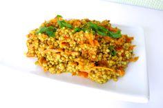 Salade sorghum au cari et lait de coco #vegan #glutenfree