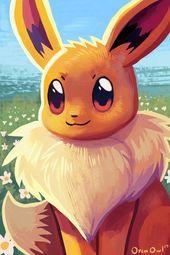 "Eevee / orcaowlart: "" Eevee, to add to my eeveelution print set! Prints of thi. Fan Art Pokemon, Pokemon Gif, Pokemon Images, Pokemon Comics, Cool Pokemon Wallpapers, Cute Pokemon Wallpaper, Pokemon Mignon, Photo Pokémon, Pokemon Painting"