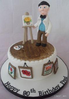 Artist & Easel Themed Cake