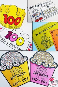 When did you celebrate the Day of School?the 101 day of school! 100 Days Of School Centers, 100th Day Of School Crafts, 100 Day Of School Project, First Day Of School, School Projects, School Ideas, 100 Days Of School Project Kindergartens, Kindergarten Classroom, Kindergarten Activities