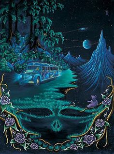☮ American Hippie Art ~ Grateful Dead . . . In the back woods of Fennario