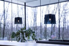 New #Vestale blown glass suspended lamp just presented at the last #MilanoDesignWeek