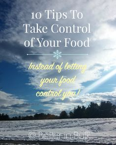 10 Tips to Take Control of Your Food (instead of letting your food control you!) - Weight loss tips and general healthy eating ideas #WeightWatchers #WWsponsored