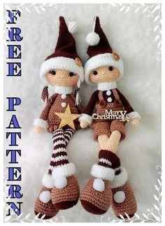 Crochet Patterns Amigurumi, Amigurumi Doll, Crochet Dolls, Amigurumi Tutorial, Crochet Crafts, Crochet Projects, Holiday Crochet, Christmas Toys, Free Pattern