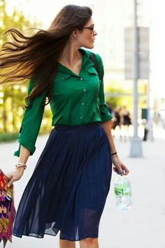 Green and marine combination <3