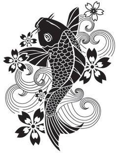 Simply Screen Silk Stencil Tattoo Koi Discount Designer