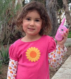 """Toddler begging for a cell phone? Buy walkie-talkies so she can """"call"""" you and feel like a grown up."""