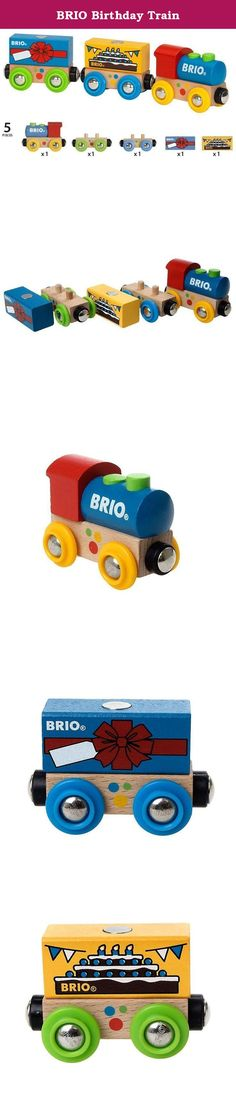BRIO Birthday Train. Today is not an ordinary day, because today is your special day! This birthday train is the perfect gift for any occasion. The festive, magnetic loads can be loaded on and off the train. BRIO creates innovative, high-quality and well-designed toys with clean, simple designs that spark children's creativity and imagination while encouraging and supporting each stage of their development. For over a century, our mission has been to create happy childhood memories. All...