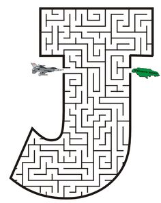 mazes for each letter. Free Printable Maze of the letter J