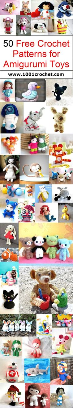 50 Free Crochet Patterns for Amigurumi Toys | 1001 Crochet by 1001crochet