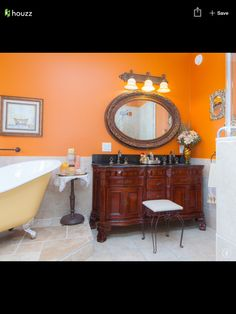 Inside Our Home Main Floor Half Bath Orange Bathrooms Denver And Stuffing