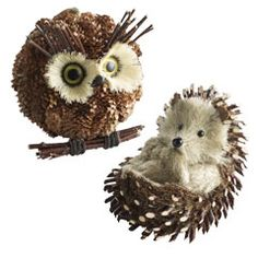I love this little owl from Pier One.  I can just see him peeking out of the ficus trees inside this winter...