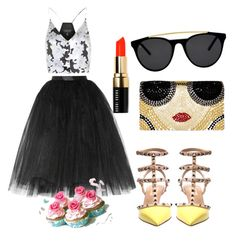 Untitled #26 by anusharao on Polyvore featuring polyvore fashion style Topshop Ballet Beautiful Valentino Alice + Olivia Smoke & Mirrors Bobbi Brown Cosmetics
