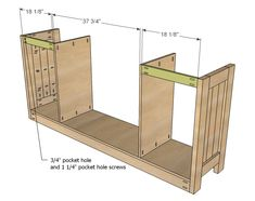 Build your own cabinet doors from the plan at ana white - Ikea planos faciles ...