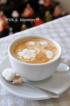 cherry blossom cafe latte