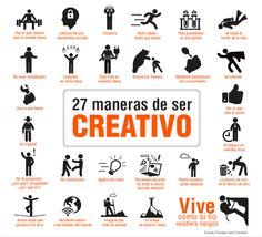 Foto: Creatividad 27 maneras de ser #Creativo. #BibUpo #Estudiantes  https://www1.upo.es/biblioteca/