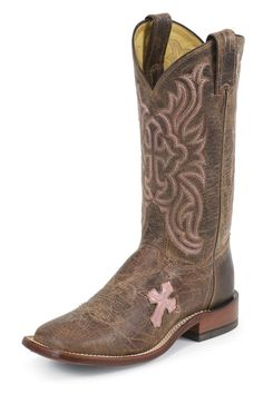 Tony Lama Cross Inlay Cowgirl Boots <3 <3
